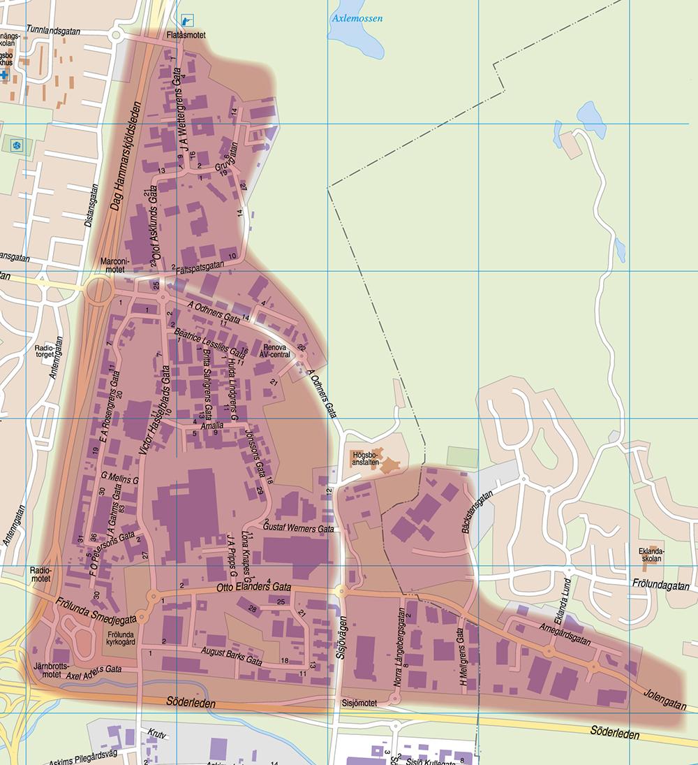 Karta Högsbo